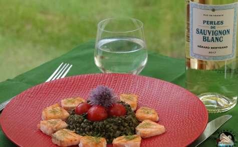 Lentilles vertes au saumon grillè
