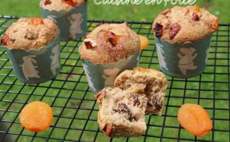 Muffins noix de pécan et abricots