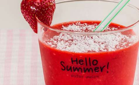 Smoothie fraise coco