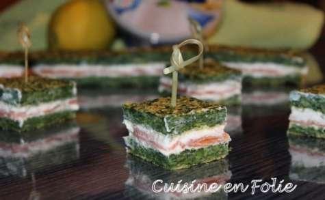Cheesy salmon square