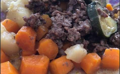 Viande hachée et ses légumes au cookeo