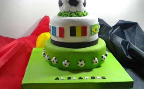 Mon gâteau Mundial 2018 avec tuto ballon de foot