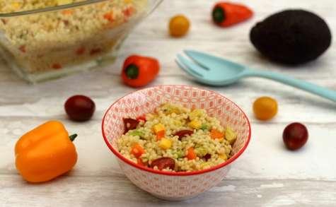 Salade de pâtes perle aux maïs et légumes