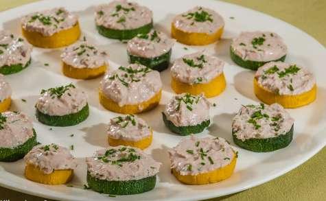 Courgettes grillées aux rillettes de thon