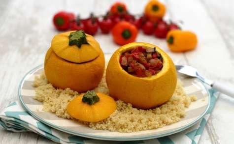 Courgettes farcies aux légumes du soleil