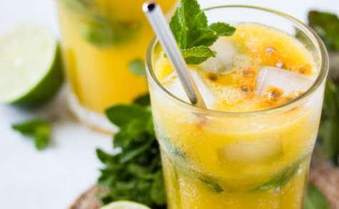 Mojito à la mangue et aux fruits de la passion