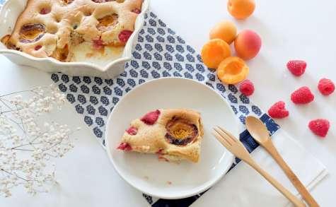 Gâteau abricots-framboises