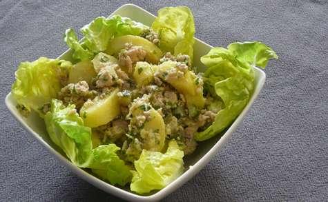 Salade de thon et pommes de terre aux herbes