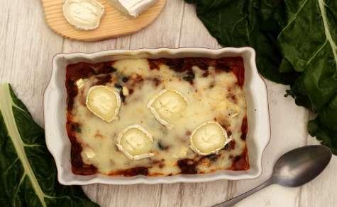 Gratin de blettes façon lasagne au fromage de chèvre
