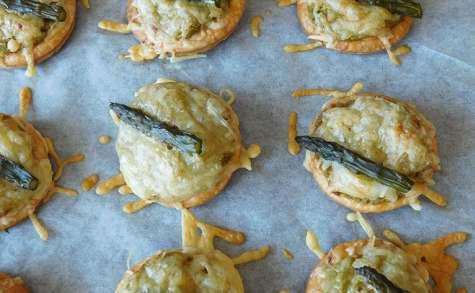 Tartelettes petits pois et asperges vertes