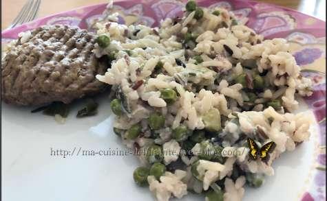 Riz avec ses légumes et steaks hachés
