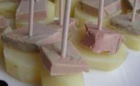 Bouchées Rattes et Foie Gras