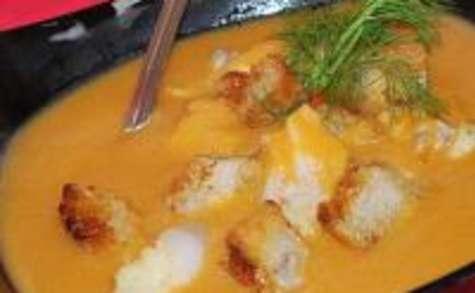 Soupe de Poisson au Safran