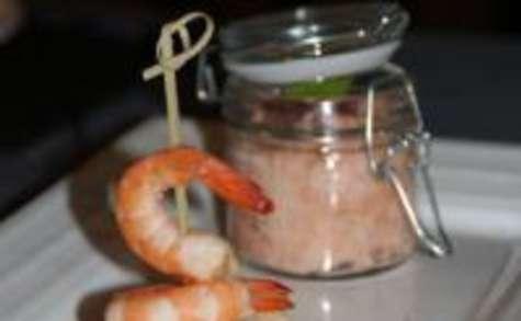Terrine de Saumon aux Crevettes et son Tartare