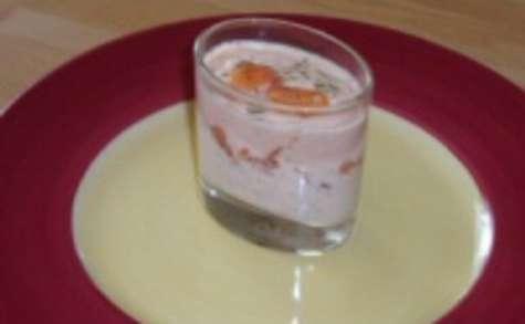 Verrines de saumon à la tomate et au maïs