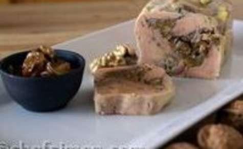 Ballotine de foie gras au chutney d'abricots