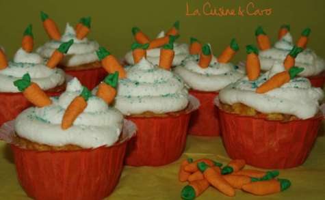 Cupcakes Carottes nuage Chocolat blanc