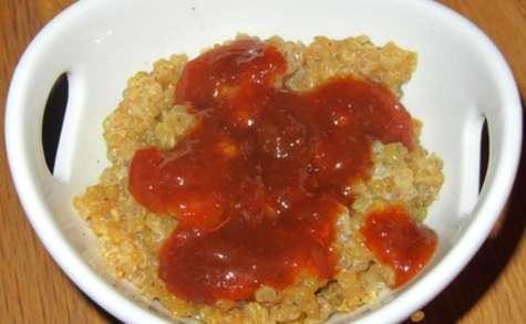 Quinoa au lait d'épeautre et caramel
