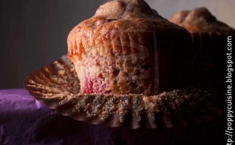 Muffins à la framboise et aux éclats d'amandes