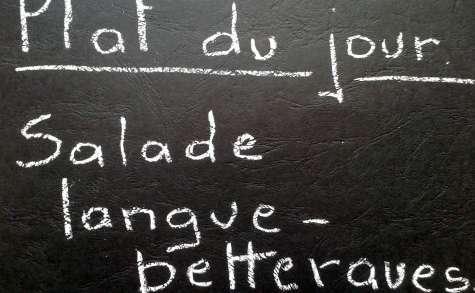 Salade de langue et de betteraves.