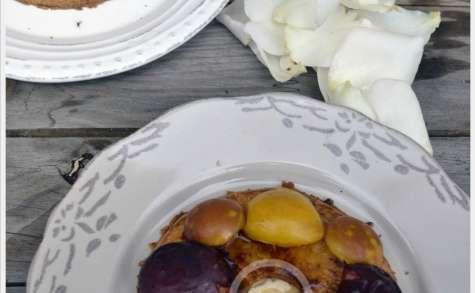 Gateau aux prunes et pommes