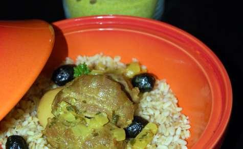 Joues de porc aux olives et citrons confits