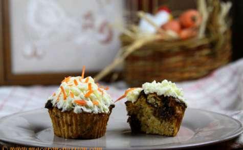 Cupcakes carotte, muesli et fruits secs