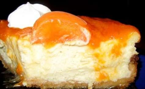 Cheesecake fondant à la vanille et aux abricots