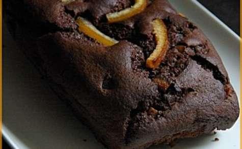Cake au chocolat et à l'orange confite
