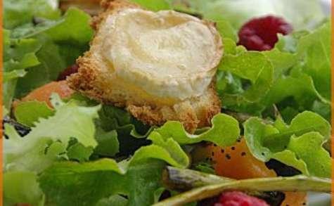 Salade d'asperges vertes à la framboise et au melon