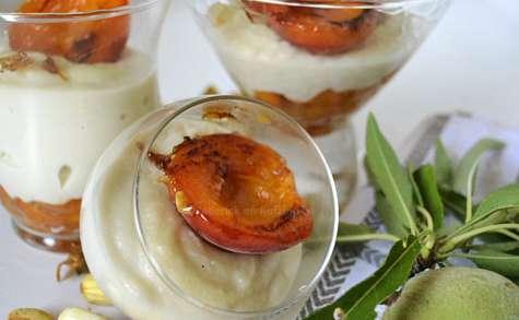 Abricots rôtis et lait d'amande