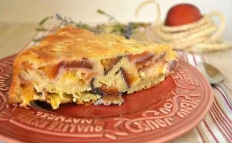Gâteau moelleux aux nectarines et aux abricots