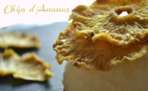 Mille-feuille de chips d'ananas et glace coco