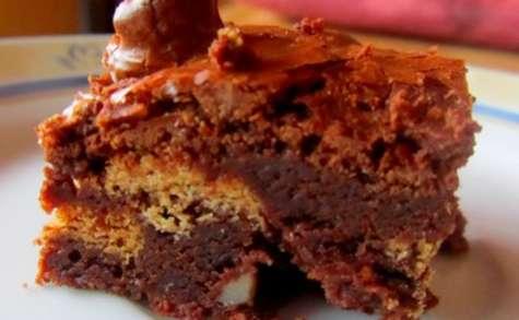Brownie fondant aux spéculoos et aux noix
