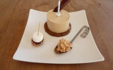 Cheesecake au nougat à l'agar agar