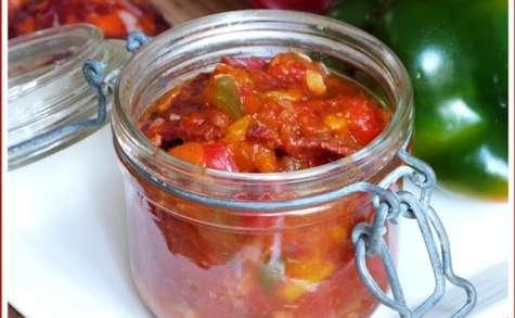 Sauté de veau aux tomates, poivrons et chorizo