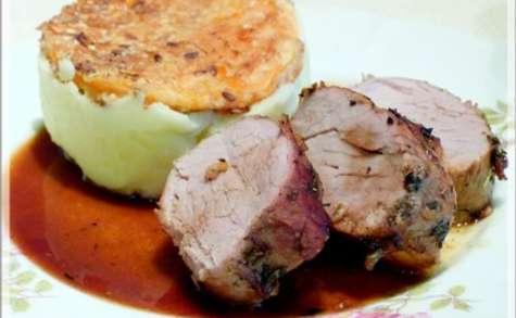 Filet mignon de porc aux saveurs de la garrigue et parmentier de butternut
