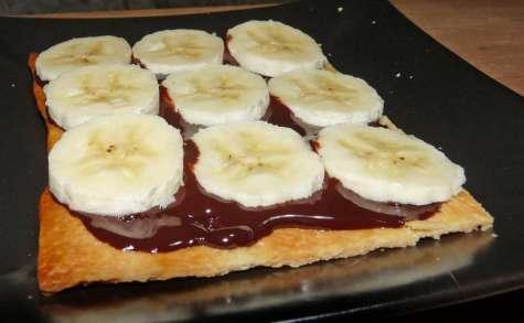 Tartelette à la banane et au chocolat