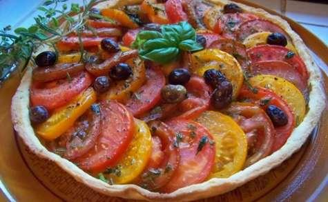 tarte sablée aux trois tomates