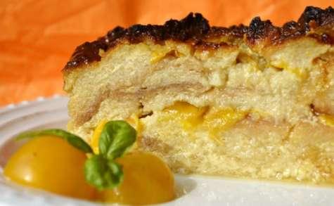 Gâteau au pain et mirabelles bio