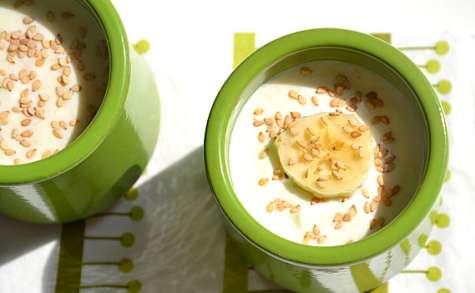 Crème de banane aux graines de sésame