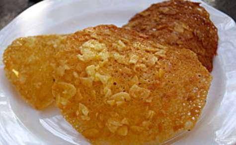Tuiles aux amandes et au jus d'orange
