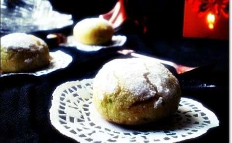 Macarons à la semoule et noix de coco Ghribia marocaine