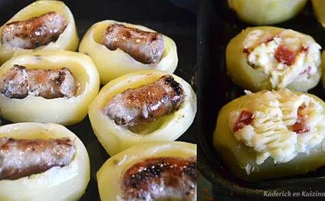 Pommes de terre farcies chorizo ou saucisse