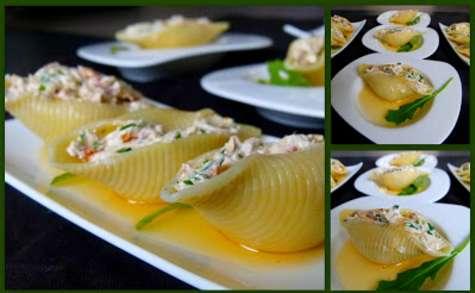 Conchiglie au pesto de pistaches VS Conchiglie au fromage frais et tomates séchées
