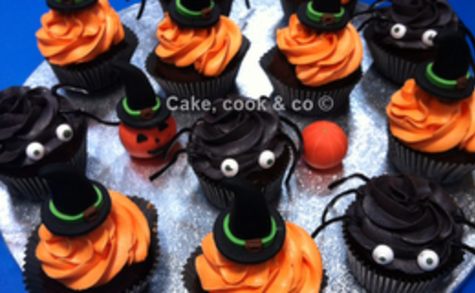 Cupcakes Halloween : Chocolat - orange