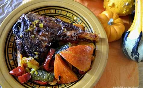 Souris d'agneau en tajine aux légumes d'automne