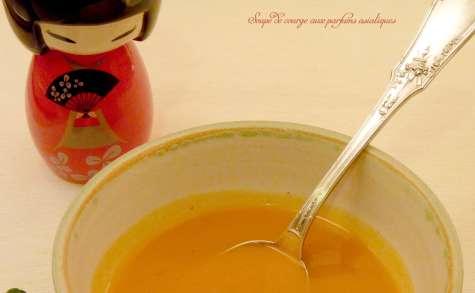 Soupe de courge gingembre & combava