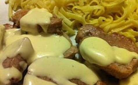 Filet mignon sauce moutarde