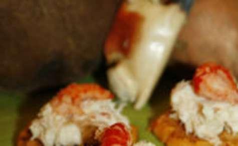 Crabe Coco sur Blinis de patates douces